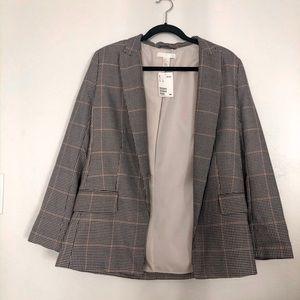 H&M houndstooth blazer NWT